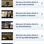 Du kan også se Morten Messerschmidts videoer inde i app'en. Da jeg klikkede fik jeg dog ikke selve videoen frem, måske på grund af teknisk problem.
