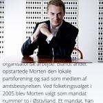 Billedet bliver, når man scroller ned. Det ville jeg nok ikke have valgt. Jeg ved efterhånden godt, hvordan Morten ser ud og ville hellere have mere plads til at læse teksten.